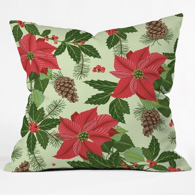 Sabine Reinhart Christmas Ballad Throw Pillow Size: Small