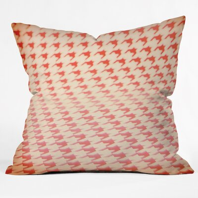 The Light Fantastic Houndstooth Polaroid Throw Pillow Size: Small