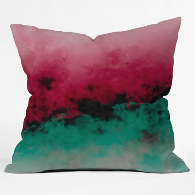 Caleb Troy Zero Visibility Poinsettia Ombre Throw Pillow Size: Medium