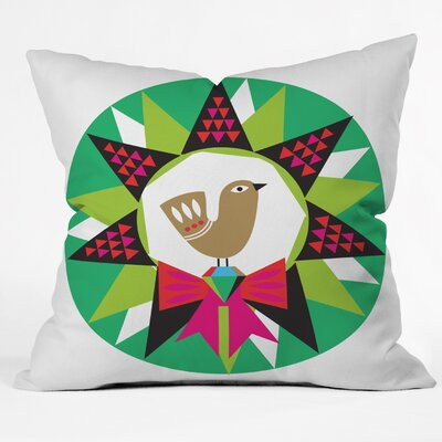 Zoe Wodarz Geo Pop Wreath Throw Pillow Size: Medium