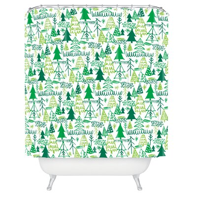 Zoe Wodarz Wonderland Forest Shower Curtain