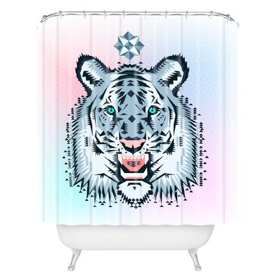 Chobopop Snow Tiger Shower Curtain