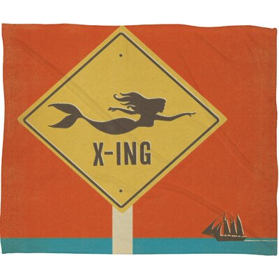 Anderson Design Group Mermaid X-ing Throw Blanket Size: Large