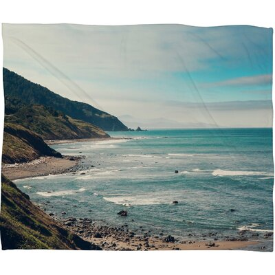 Catherine Mcdonald California Pacific Coast Highway Throw Blanket Size: Small