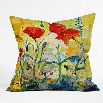 Poppies Provence Outdoor Throw Pillow Size: Large
