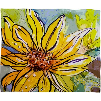 Ginette Fine Art Sunflower Ribbon Throw Blanket Size: Large