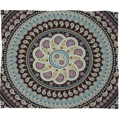 Belle13 Mandala Paisley Throw Blanket Size: Large