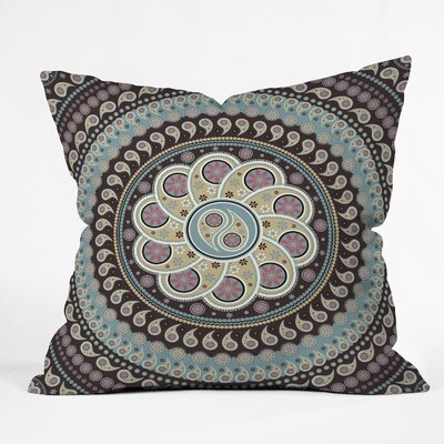 Belle13 Mandala Paisley Throw Pillow Size: Large