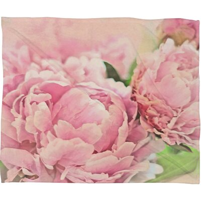 Lisa Argyropoulos Peonies Throw Blanket Size: Small