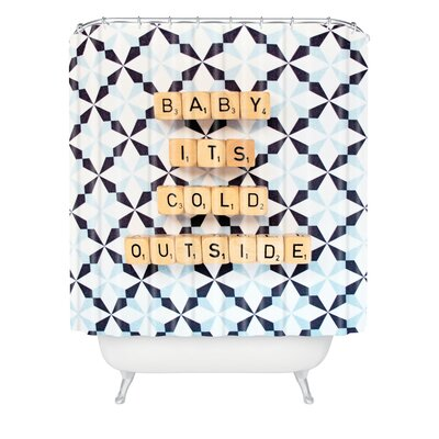 Happee Monkee Baby Its Cold Outside Shower Curtain