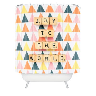 Happee Monkee Joy To The World Shower Curtain