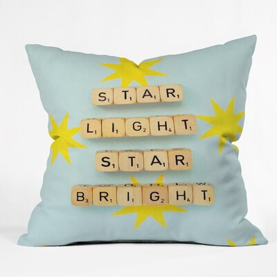 Happee Monkee Star Light Star Bright Throw Pillow Size: Large