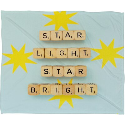 Happee Monkee Star Light Star Bright Plush Fleece Throw Blanket Size: Small