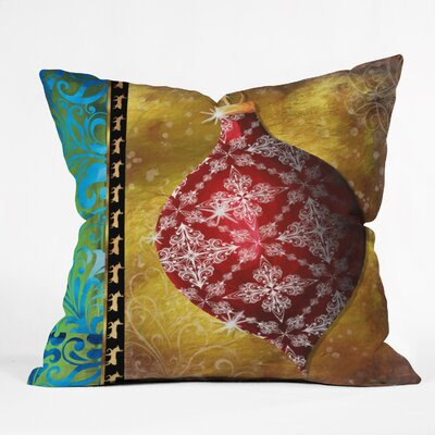 Madart Inc. Elegante Throw Pillow Size: Large
