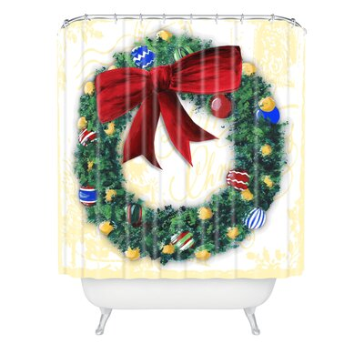 Madart Inc. Pine Wreath Shower Curtain