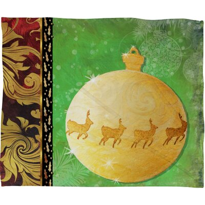 Madart Inc. Elegante Plush Fleece Throw Blanket Size: Medium