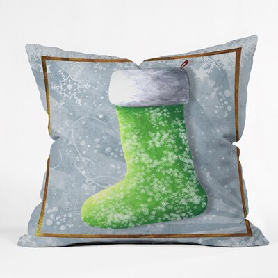 Madart Inc. Vintage Stocking Throw Pillow Size: Small