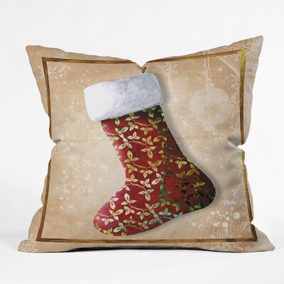 Madart Inc. Vintage Stocking Throw Pillow Size: Large