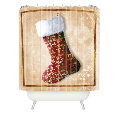 Madart Inc. Vintage Stocking Shower Curtain