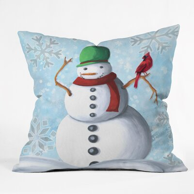 Madart Inc. Winter Cheer Throw Pillow Size: Medium