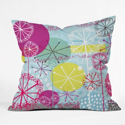 Rachael Taylor Snowflake Stems Indoor Throw Pillow Size: Small