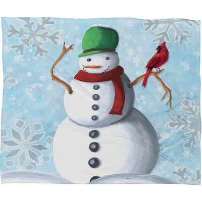 Madart Inc. Winter Cheer Plush Fleece Throw Blanket Size: Small
