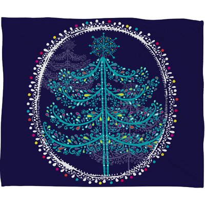 Rachael Taylor Decorative Tree Plush Fleece Throw Blanket Size: Small