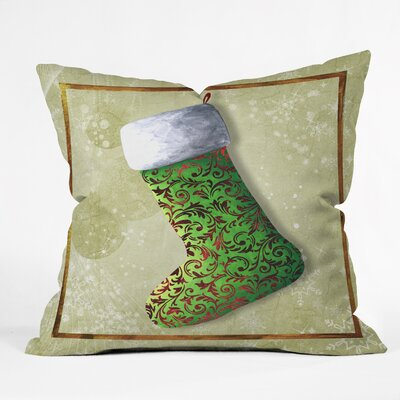Madart Inc. Vintage Stocking Throw Pillow Size: Medium