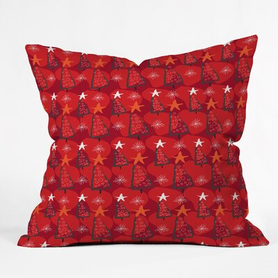 Julia Da Rocha Christmas Trees Indoor Throw Pillow Size: Large