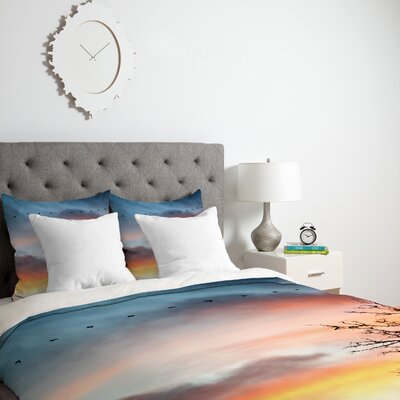 Bird Wanna Whistle Down Duvet Cover Size: King, Fabric: Lightweight