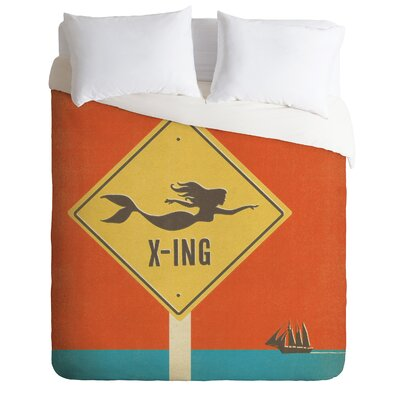 Anderson Design Group Lightweight Mermaid X Ing Duvet Cover Size: Twin