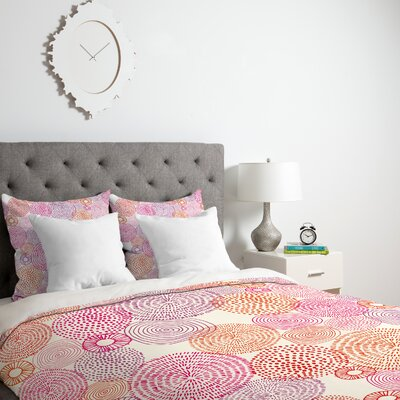 Circles Duvet Cover Size: King, Fabric: Lightweight
