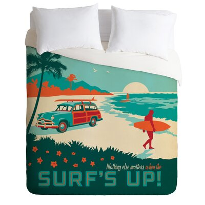 Anderson Design Group Lightweight Surfs Up Duvet Cover Size: Queen