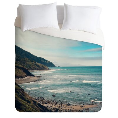 Catherine McDonald Lightweight California Pacific Coast Highway Duvet Cover Size: King