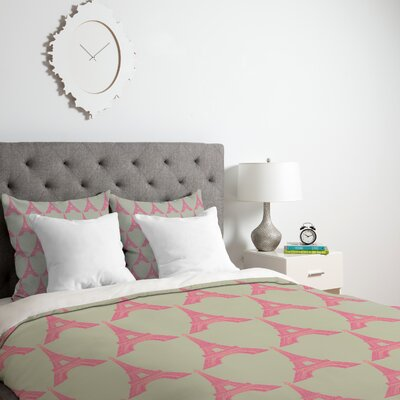 Bianca Green Down Alternative Duvet Cover Size: Queen, Fabric: Lightweight