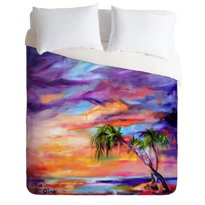 Ginette Fine Art Lightweight Florida Palms Beach Duvet Cover Size: Twin