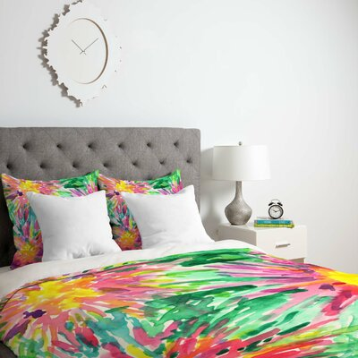 Joy Laforme Floral Confetti Duvet Cover Size: Twin, Fabric: Lightweight