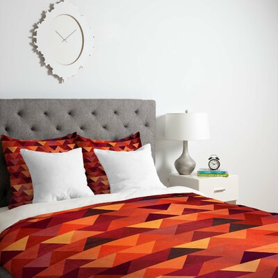 Trianglerain Duvet Cover Size: King, Fabric: Lightweight