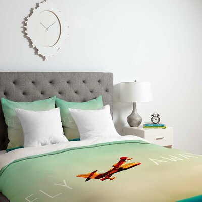 Happee Monkee Fly Away Duvet Cover Size: Queen, Fabric: Lightweight