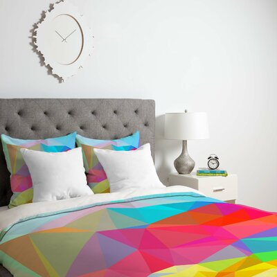 Cornwell Crystal Crush Duvet Cover Size: Queen, Fabric: Lightweight