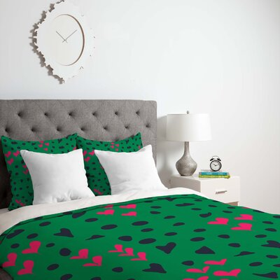 Vy La Animal Love Duvet Cover Size: King, Fabric: Lightweight