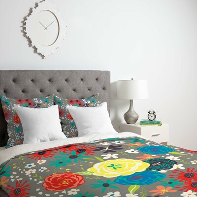 Bloomimg Love Duvet Cover Size: King, Fabric: Lightweight