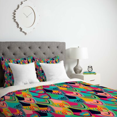 Vy La Love Birds 1 Duvet Cover Size: King, Fabric: Lightweight
