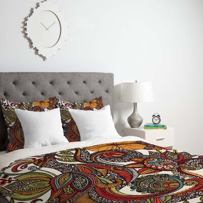 Paradise Bird Duvet Cover Size: Queen, Fabric: Lightweight