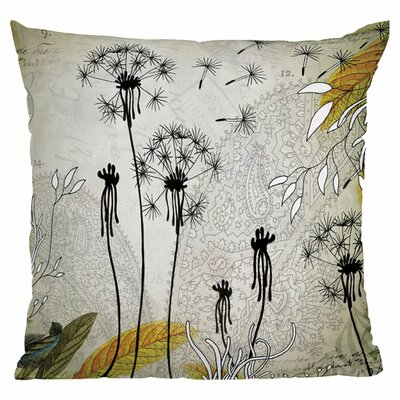 Iveta Abolina Little Dandelion Throw Pillow Size: 18 x 18