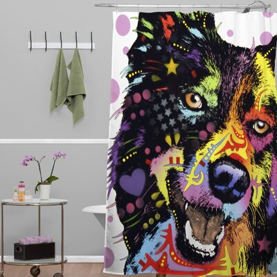 Dean Russo Border Collie Shower Curtain