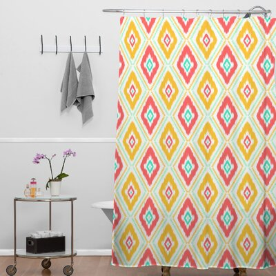 Jacqueline Maldonado Zig Zag Ikat Shower Curtain Color: White Zig Zag Ikat