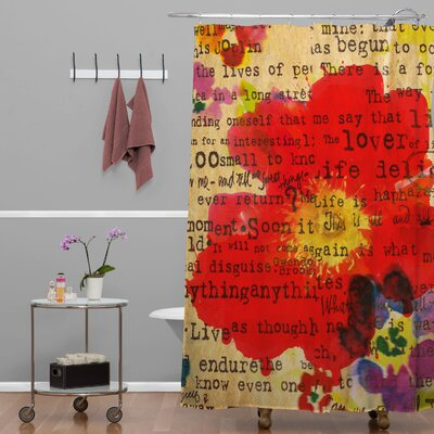 Irena Orlov Poppy Poetry Shower Curtain