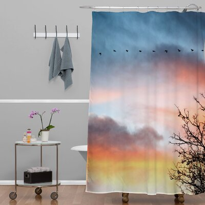 Bird Wanna Whistle Bird Line Shower Curtain
