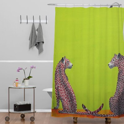 Clara Nilles Leopard Lovers Shower Curtain